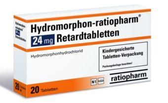 Hydromorfon - balení léku